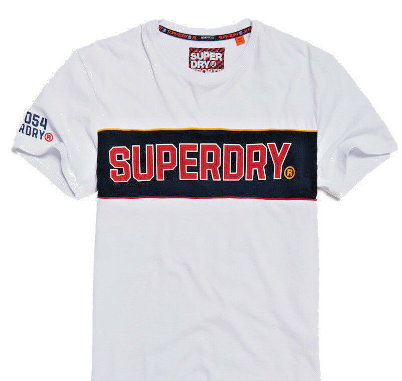 Superdry Retro Stripe Box Fit Tee Shirt Extra-Large Size & Very Large Bold Logo