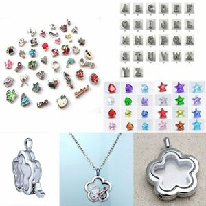 New-Jewelry-Floating-Charm-Necklace-Living-Memory-Locket-Pendant-No-Charms-Star