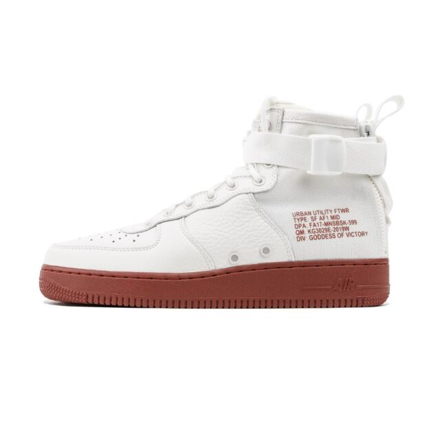pretty nice f09dd 10f64 Nike SF Af1 Mid Special Field Air Force 1 Ivory Mars Stone Zip Men 917753- 100 10.5