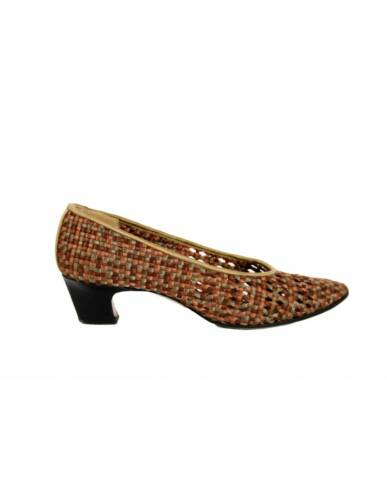 Yves Saint Laurent Vintage Heel Woven Shoes Leathe