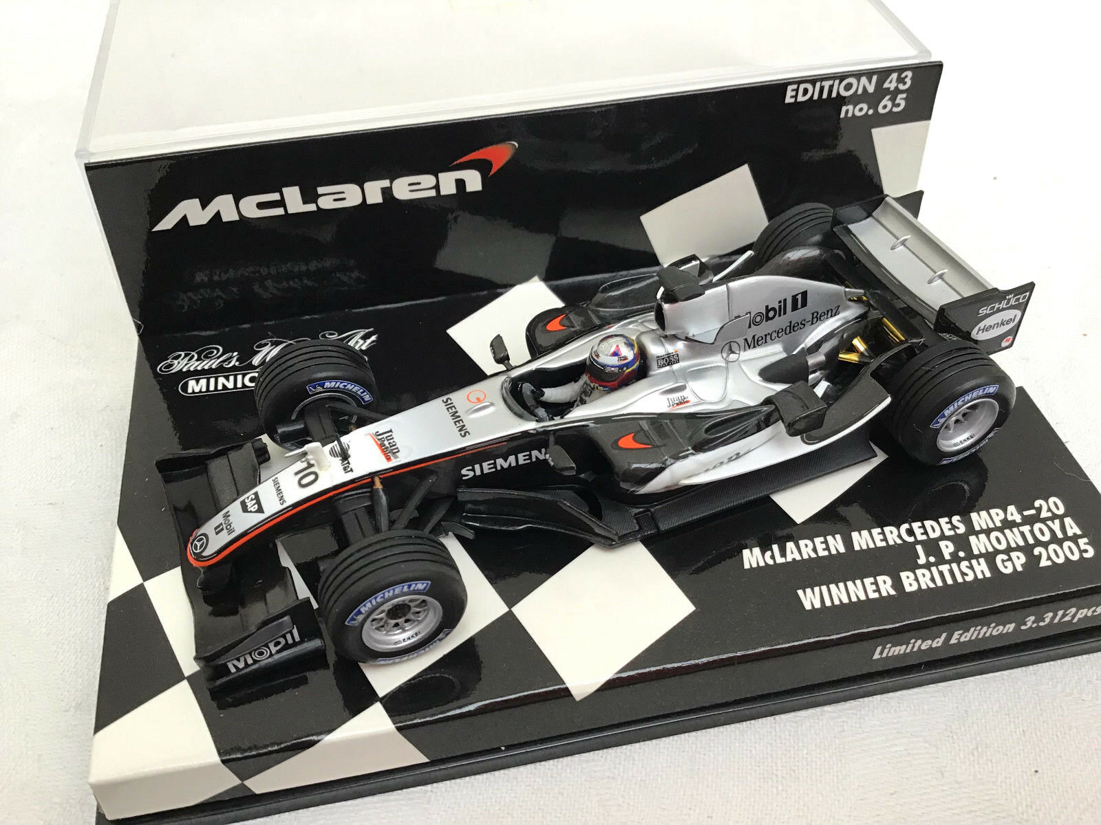 MINICHAMPS 1 43 McLAREN MERCEDES MP4-20 Winner British GP 2005 J.P. Montoya