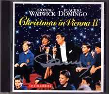 Placido DOMINGO Signiert CHRISTMAS IN VIENNA II Dionne WARWICK CD Stille Nacht