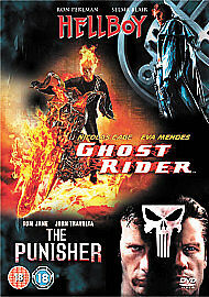 1 of 1 - ** 3 DVD set - Ghost Rider/Hellboy/The Punisher DVD (very good condition) **
