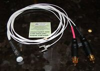 5ft Silver Plated Tonearm Cable Built With Cardas 5 Pin Din And Rca Made In Usa