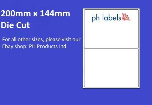 500 Sheets 200mm x 144mm Self adhesive label A4 White Multi-Purpose 2 to view