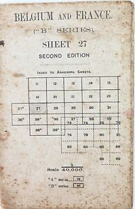 WW1-1915-LARGE-CANVAS-ORDNANCE-SURVEY-MAP-OF-BELGIUM-amp-FRANCE