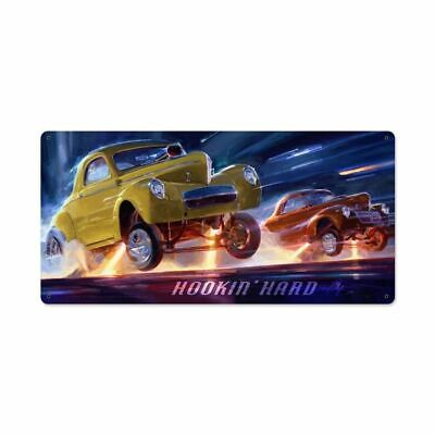 Messin/' with the Institution Roadster Police Chase by Tom Fritz Metal Sign