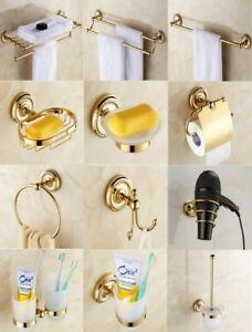 Golden-Brass-Bath-Accessories-Towel-Bar-Ring-Toilet-Bathroom-Hardware-Set-wj016
