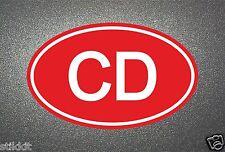 CD CORPO DIPLOMATICO Adesivo Rosso Segno Guarnizione Per Auto Paraurti Finestra aufkleber
