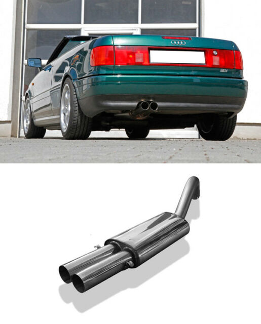 FOX Endschalldämpfer Edelstahl Audi 80 90 Limo Cabrio Coupe Typ 89 2x76mm