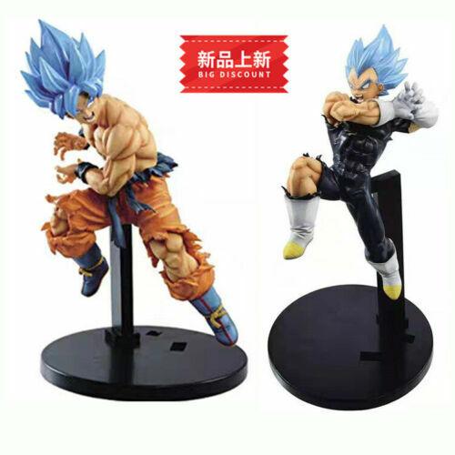 2pcs Set Xmas gift Dragon Ball Super Saiyan Goku /& Vegeta PVC Figure New 17cm