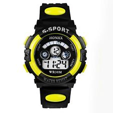 HOT Waterproof Children Boys Digital LED Sports Watch Kids Alarm Date Watch Gift