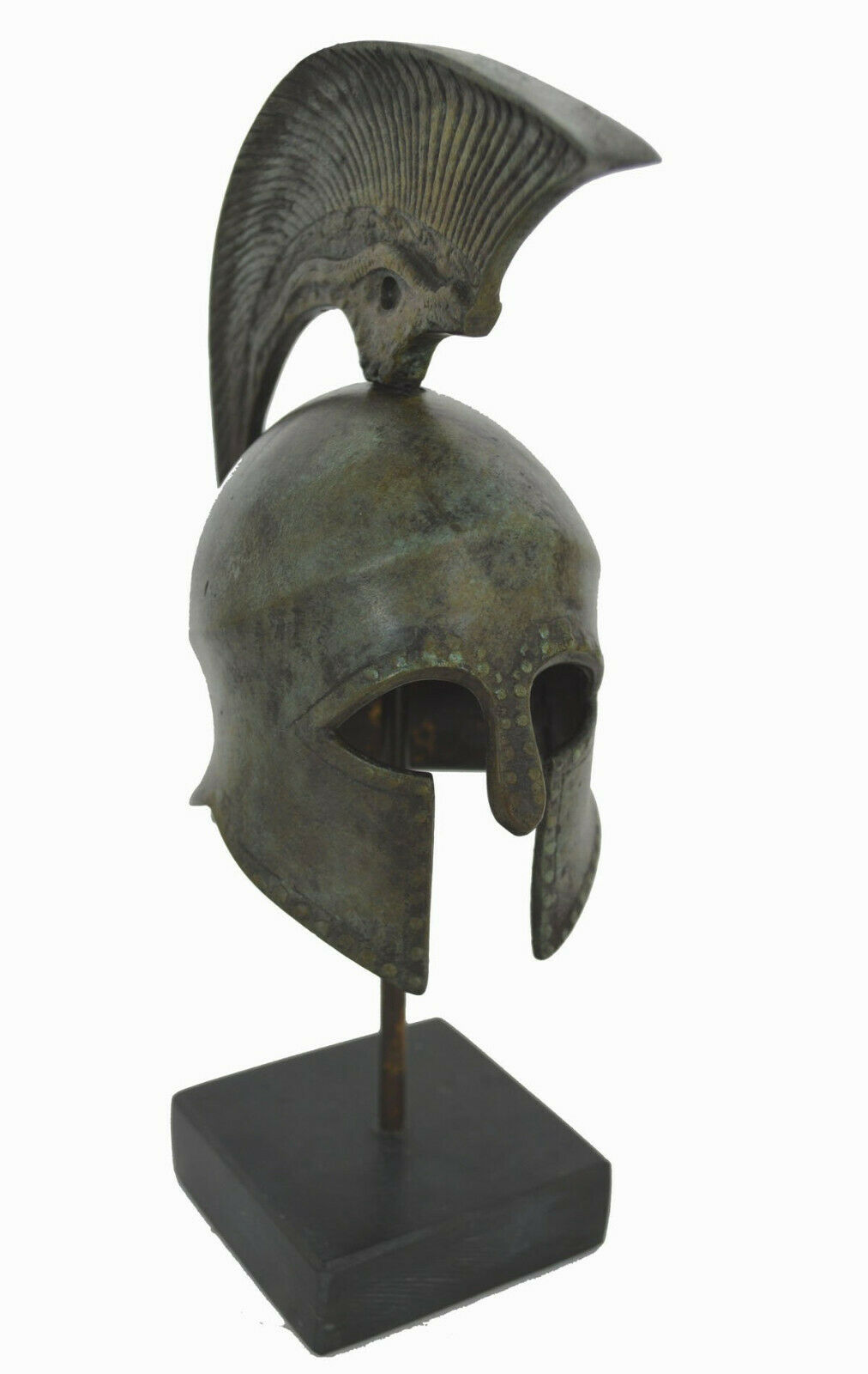 Casco De Bronce Mármol basado en griego antiguo artefacto de reproducción