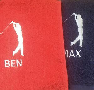 Personalised-Embroidered-GOLF-towel-With-Large-Logo-And-Name