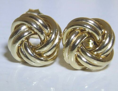 9 CARAT CELTIC LOVE KNOT STUD EARRINGS  9CT YELLOW GOLD