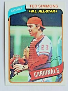 Ted Simmons #85 Topps 1980 Baseball Card (St Louis Cardinals) VG