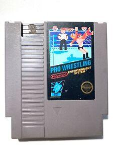 ***Pro Wrestling ORIGINAL Nintendo NES Game Tested + WORKING & Authentic