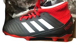 Adidas-Preadtor-18-3-Fg-Jr-DB2318-football-shoes-black-2-2y-Youth-New-In-Box-Nib