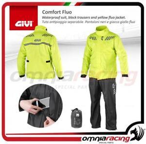 Completo-Tuta-Antipioggia-Comfort-Fluo-Separabile-Pantaloni-Giacca-CRS02EXYXXXL