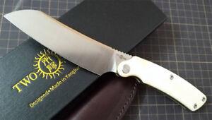 New TwoSun Knives Bone Copper 14C28N Fixed Blade Sheath Hunting Knife TS278-Bone