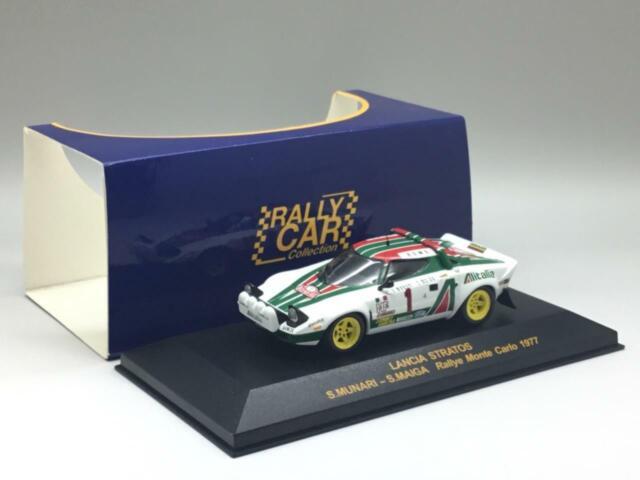 Maiga 1:43 Altaya Lancia Stratos HF #1 Winner Rallye Monte Carlo 1977 Munari