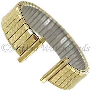 16-21mm-Speidel-Gold-Tone-Textured-Stainless-Twist-O-Flex-Mens-Band-698-33-XL