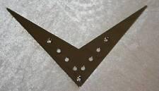 6 string Flying V Tailpiece Bridge Brücke Saitendurchführung chrom