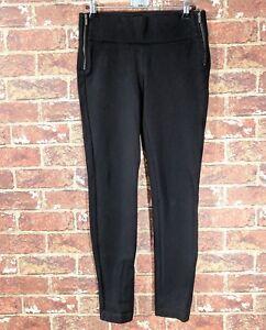 e7ac2311 Zara TRF sz S ( XS ) Black Stretch Ponte Pants Thick Leggings   eBay