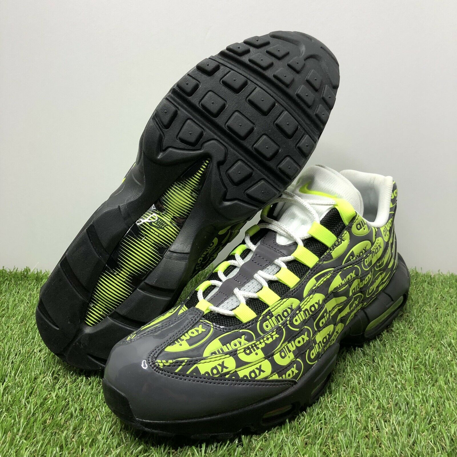 Nike Air Max 95 Premium PRM Running shoes Black Volt White Size 12.5 538416-019