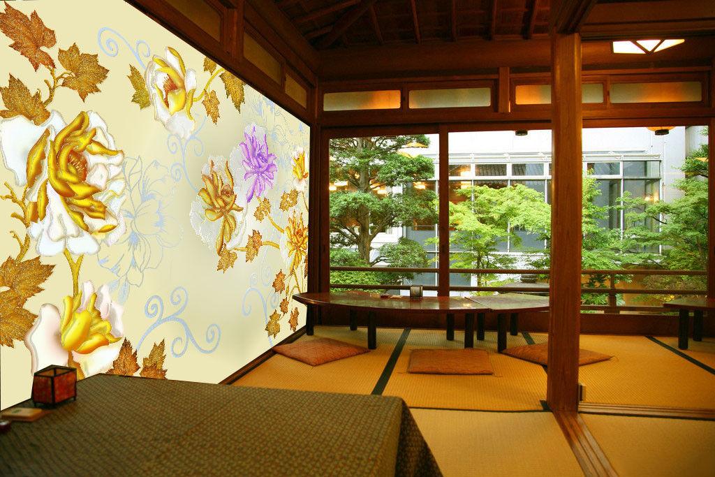 3D Maple Leaf Lotus 8 Wall Paper Murals Wall Print Wall Wallpaper Mural AU Lemon