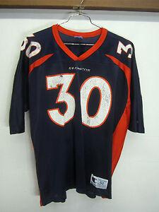 100% authentic 99647 a5797 Details about vtg Denver Broncos #30 Terrell Davis Jersey Champion  Authentic Athletic 2XL 52