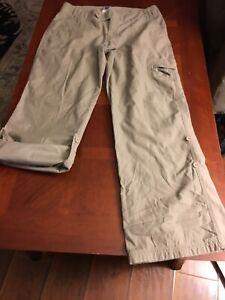 Para Mujer De The North Face Caqui Roll Up Senderismo Pantalones Talla 12 Ebay