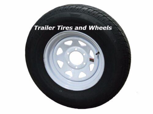 Radial Trailer Tire On White Rim ST235//80R16 LRE 6 Lug On 5.5 Spoke Wheel RV