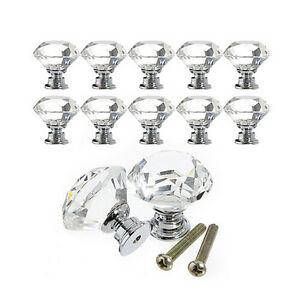 10X-Diamant-Kristallglas-Tuer-Schubladenschrank-Schrank-Pull-Handle-Knob-3-ZF