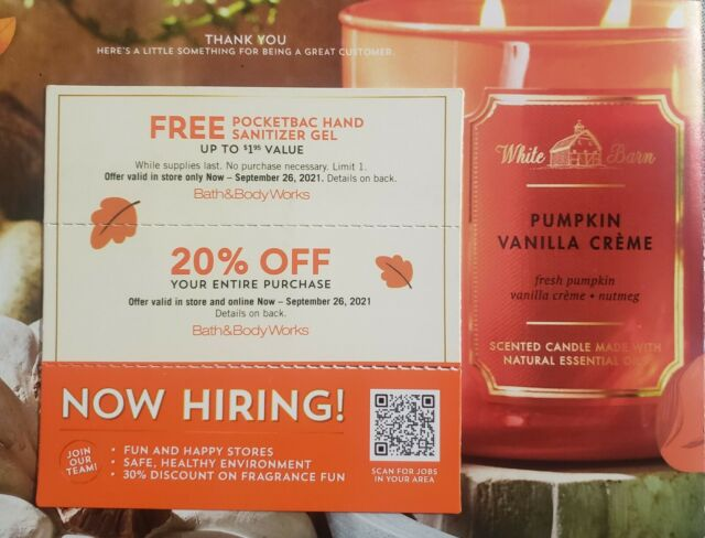 Bath And Body Works Coupons - Expires 9/26/21