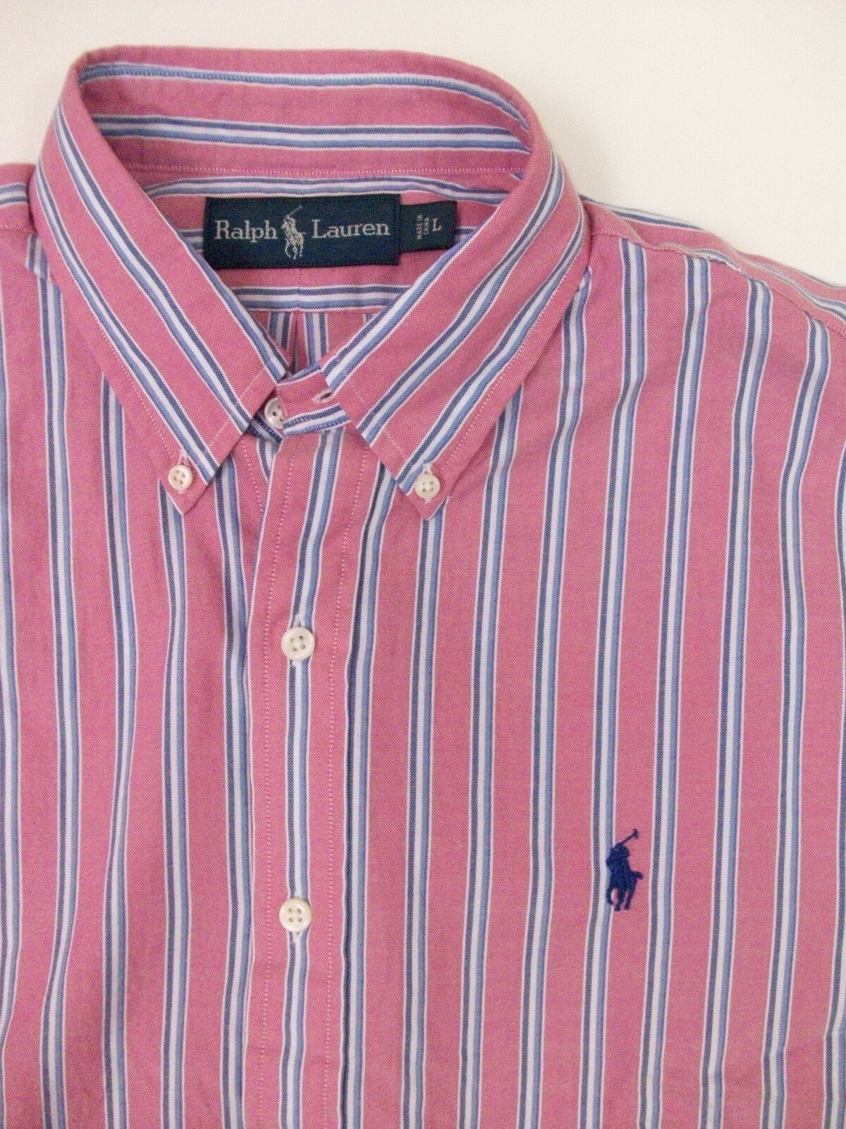 Polo Ralph Shirt Lauren Striped Lightweight Oxford Shirt Ralph  98 rosa Turquoise W Pony NWT 7c1100
