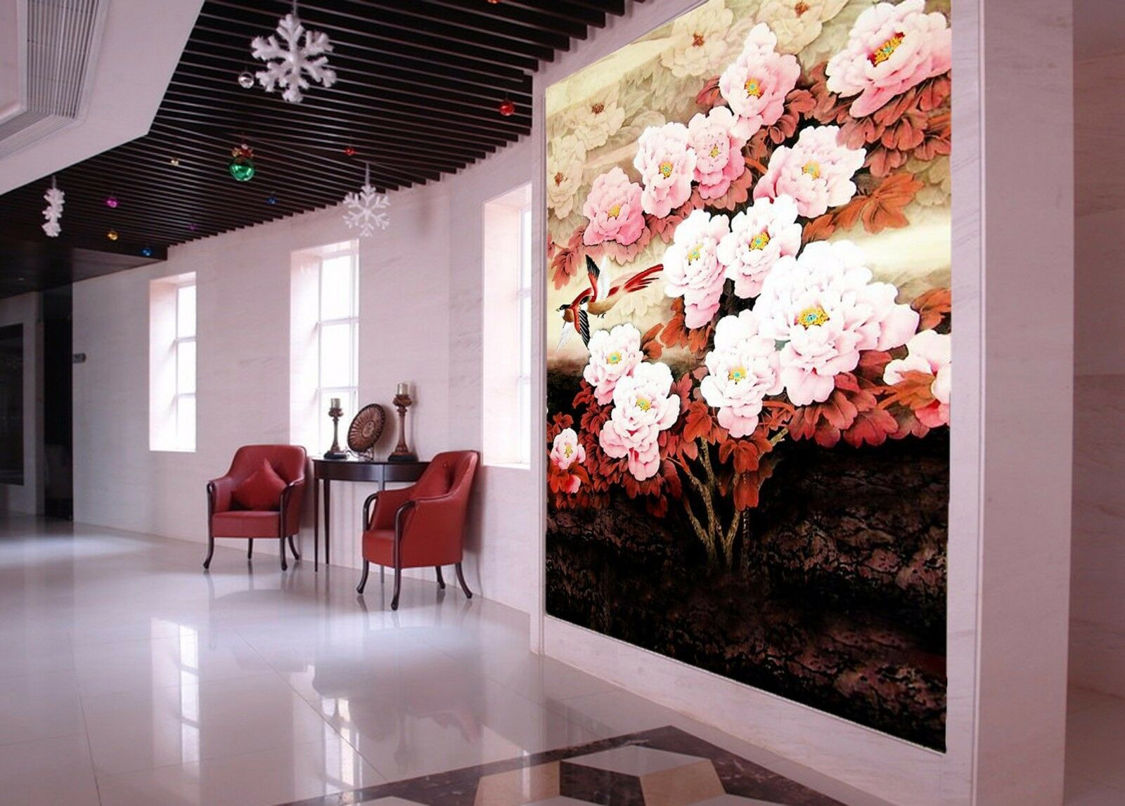 3D Elegant flowers 324 Wall Paper Wall Print Decal Wall Deco Indoor Wall Murals