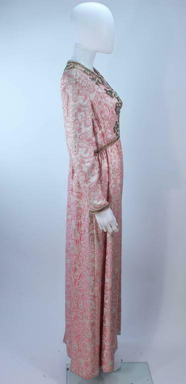 CEIL CHAPMAN 1960s Pink Paisley Brocade Gown with… - image 7