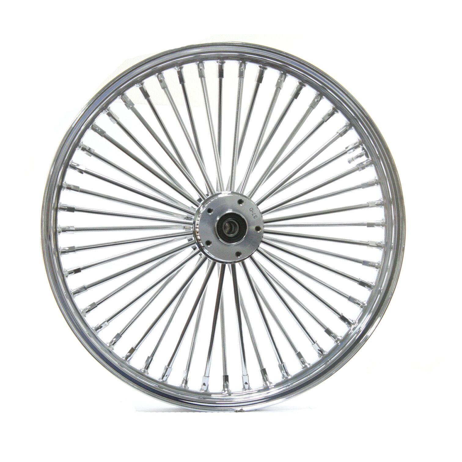 Fat Spoke Front Wheel Chrome 21 X 3 5 Harley Softail Flstn