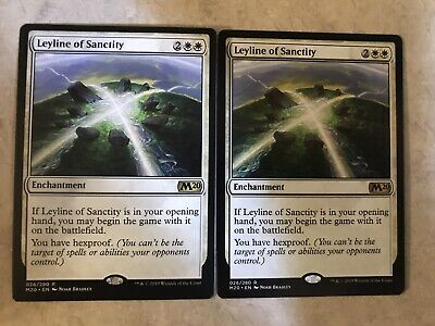 Leyline Of Sanctity M20 Magic the Gathering Core 2020 NM FREE SHIPPING