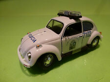HONGWELL VW VOLKSWAGEN BEETLE - POLICIA POLICE- WHITE 1:43 - EXCELLENT CONDITION