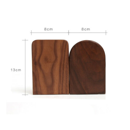 Black Walnut Bookends Book Ends Office School Stationery Book Supports Rack