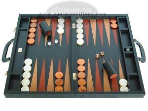 Details about LUXURY Leather Backgammon Set - Zaza & Sacci - 23