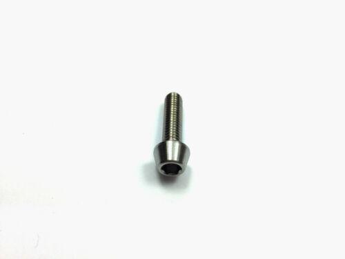 M5x18mm Titanium Bolts M5 18mm Tapered Head Grade 5 Ti Allen Key Slot