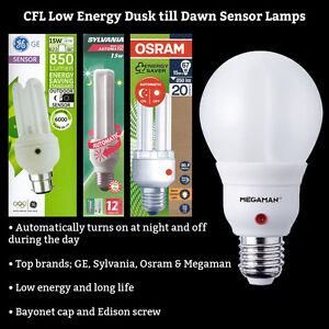 Branded low energy cfl dusk to dawn sensor photocell light bulb la foto se est cargando con la marca de baja energia cfl crepusculo aloadofball Choice Image