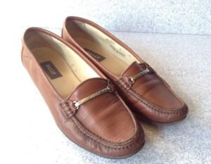 Bally Women s Brown Leather Loafers Flats Size 6M Made In Italy ... 86f464df7f