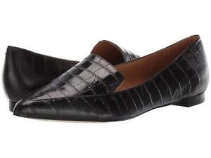 Abay-Black-Crocodile-Nine-West-Loafer-Flats