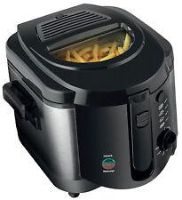 2l Elettrico Profonda Grasso Chip Friggitrice Antiaderente Pan & Safe Cestino manico acciaio spazzolato