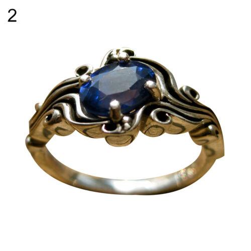 Por ejemplo /_ Princesa Imitación Anillo De Compromiso Zafiro y Esmeralda Piedras De Colores Talla 6-10