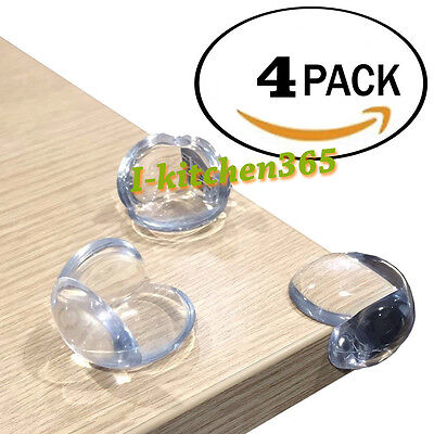 4 Baby Proofing Safe Glass Desk Table Edge Corner Cushion ...